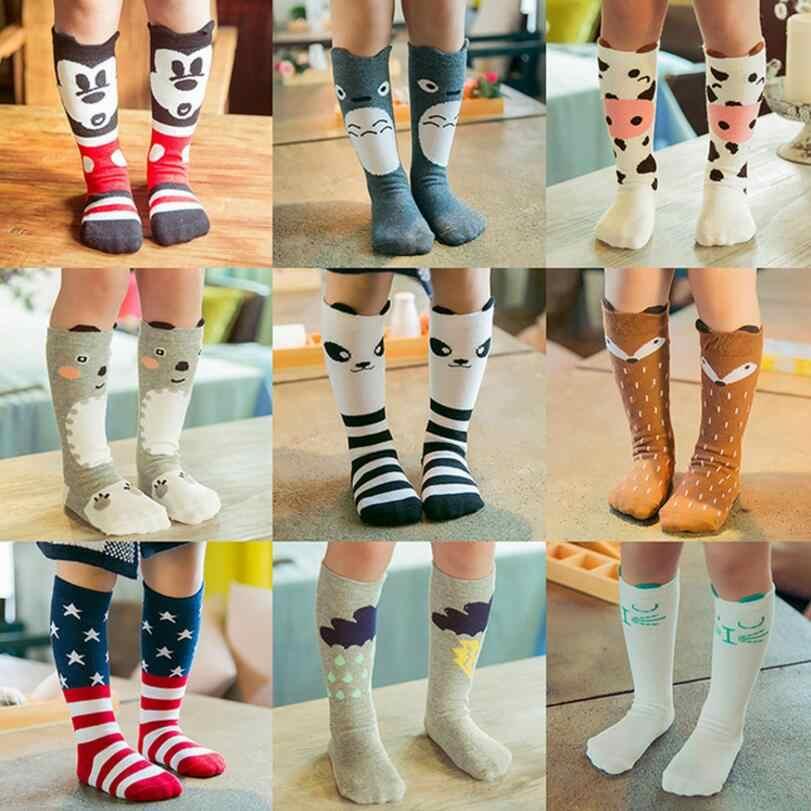 Baby Mädchen beine wärmer knie hohe shool sneaker tragen Baumwolle Charakter Knie bein warm Kid unisex Kleinkind Boot Cartoon stulpen