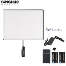 Luz de vídeo ultra fina da câmera do diodo emissor de luz do ar yn600 de yongnuo yn600 3200 k 5500 k, carregador opcional + 2 pces bateria + adaptador de alimentação ca