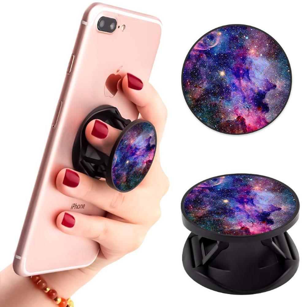 Foldable Phone Holder Finger Ring Stretch Bracket Desk Mount Stand Portable Phone Stand Ring Buckle Socket