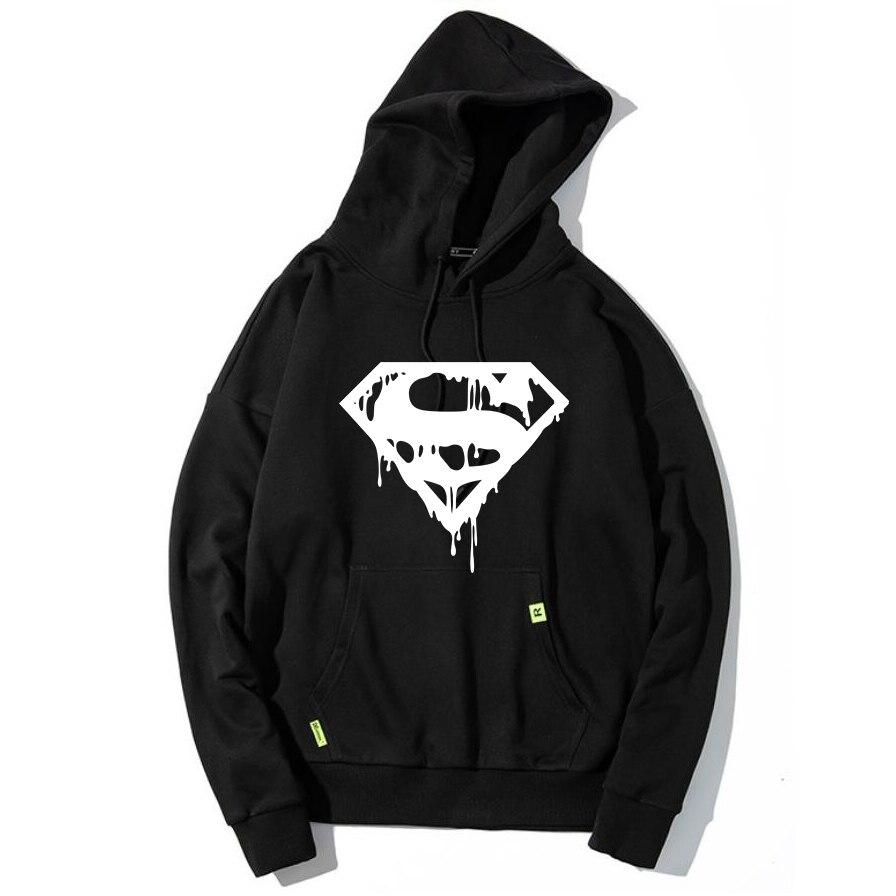 Superman anime hoodies homme à capuche hommes sweat streetwear hip hop hoddies automne hiver 2019 sweat à capuche noir vêtements