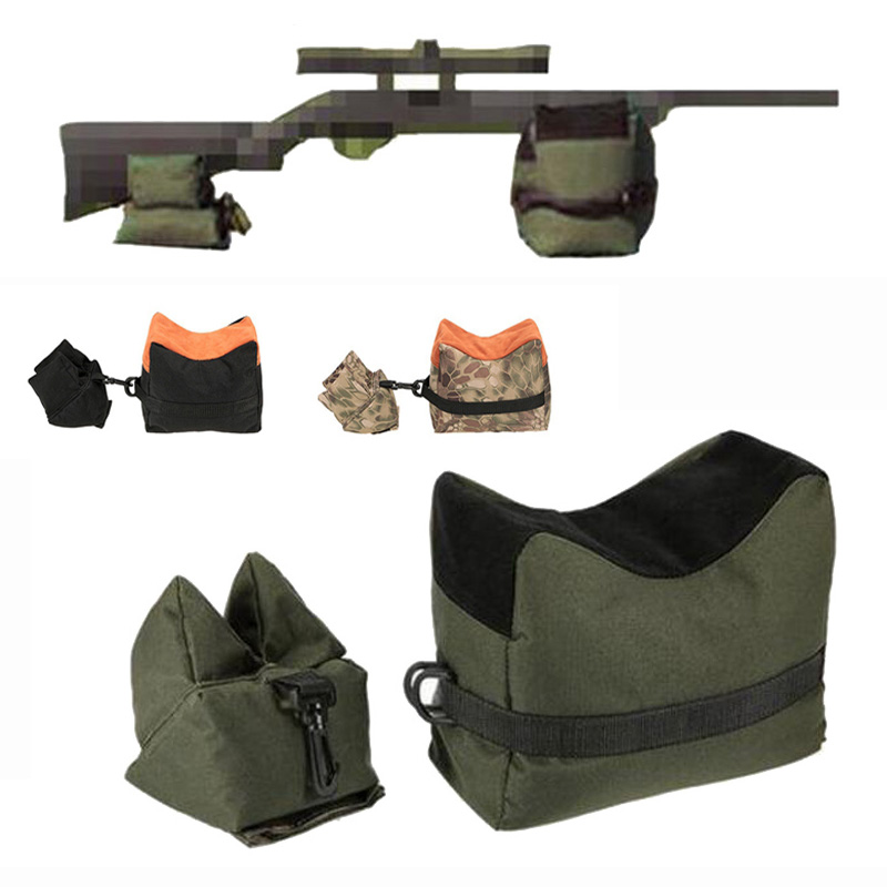 Front & Rear Hunting Rifle Target Tactical Bench Support Sandbag Sniper Rifle Gun Shooting Rest Bag Stand Set Gun Accessories