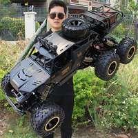 Coche todoterreno teledirigido RC 4WD 1:8 con luces Led, 2,4G, Control remoto, Rock Crawler, camiones de Control, juguetes para niños