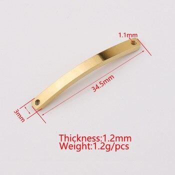 Placas de acero inoxidable 100% para grabado en oro rosa/Rosa Color plata Metal 2 placas de agujero conector para pulseras 20 Uds