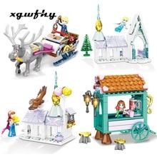 Senbao Building Blocks Snow Castle Princess Girl Series Childrens Insert 1375 Toys Gifts JM303