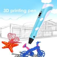 Fdbro 3d impressora caneta criativo diy feito à mão brinquedos educativos das crianças impressão caneta brinquedo criativo presente para crianças desenho Caneta 3D     -