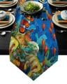 Мультяшный подводный мир  клоун  рыба  Коралловый стол  бегун  настольный флаг  Домашняя вечеринка  Декоративная скатерть  настольные Бегуны...