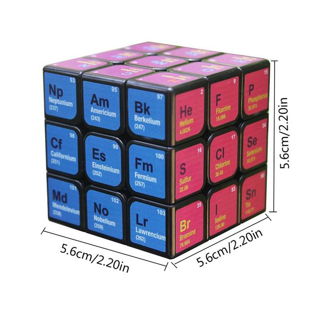 Professional Cube 3x3x3 5.6CM Speed For Magic Cube Chemical Element Periodic Table 3rd-order Cube Learning Formula Education Toy 6