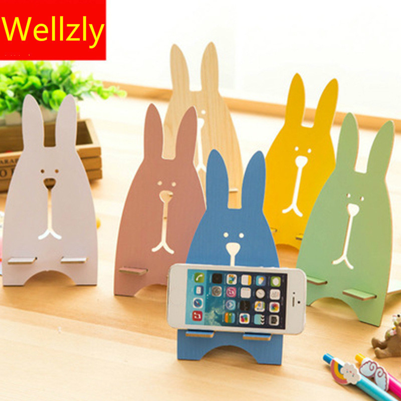Cute Rabbit Foldable Phone Stand Holders For Xiaomi Phone Holder For IPhone For Smartphones And Tablets Universal Mobile Phone