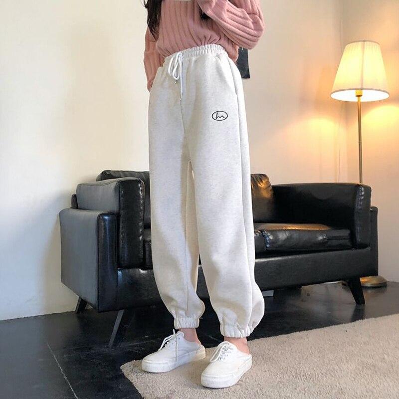 Модные флисовые повседневные джоггеры 2021, женские мешковатые спортивные брюки с высокой талией в стиле хип-хоп, спортивные брюки для бега и ...
