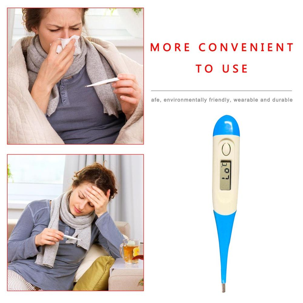 Children'S Lcd Electronic Thermometer Digital Medical Thermometer Soft Head Tools For Measuring Body Temperature Household