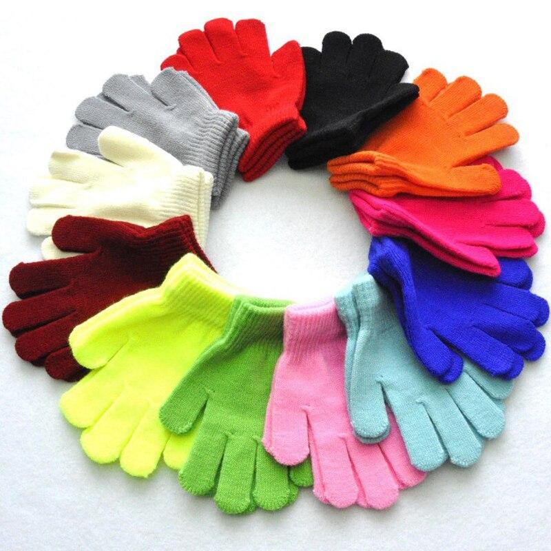 Зимние теплые и холодные перчатки для От 7 до 11 лет мальчиков и девочек, детские перчатки