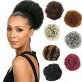 Короткий афро-пуховик из синтетических волос, кудрявый шиньон, шиньон для черных женщин, кулиска, хвост, кудрявые волосы для наращивания