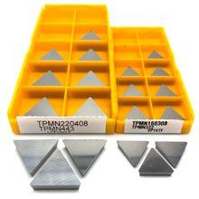 Insert de fraisage TPMN160308 VP15TF, outil de tournage du métal, TPMN 160308, traitement de l'acier inoxydable