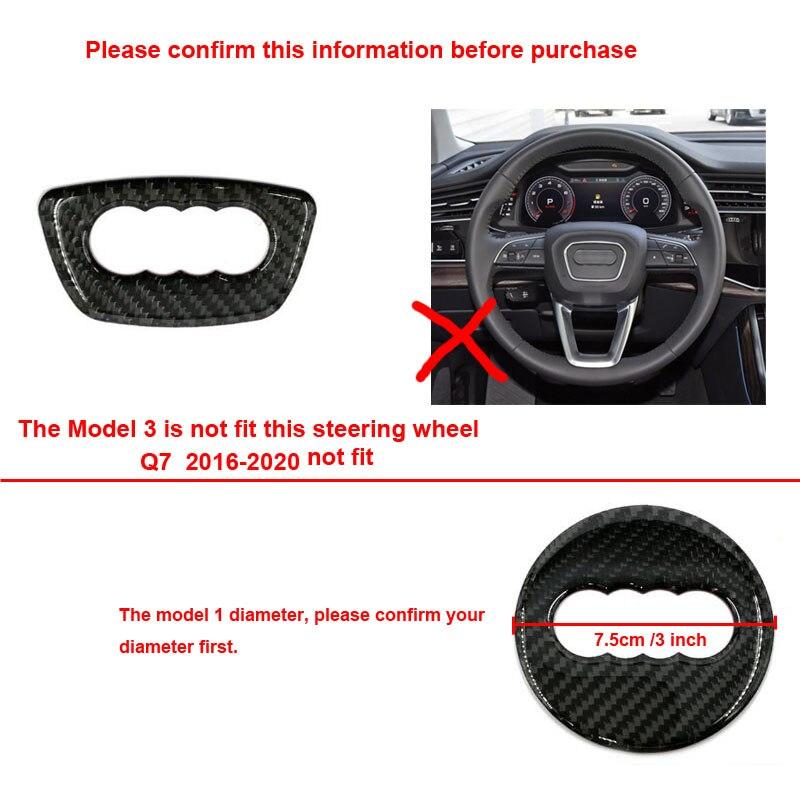 lowest price Carbon Fiber Auto Steering Wheel Sticker Logo Overlay Trim Fit For Audi A3 A4 A6 A1 A7 Q5 Q7 S4 TT Audi Accessories