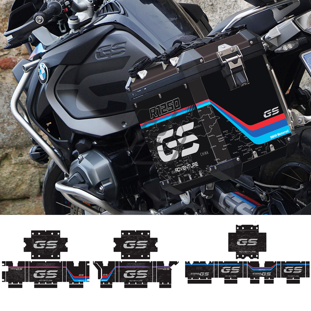 Motorcycle Side Case Reflective Sticker Fits for BMW R1200GS R1250GS Adventure 2004-2020