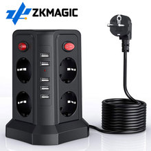 Power-Strip Electrical-Socket Eu-Plug Universal with 5m 8 5-Usb AC Long-5m/16.5ft 8-Way
