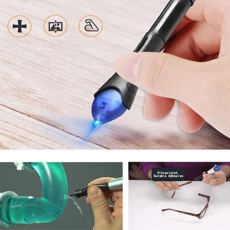 5 e 3 segundos de luz uv ferramenta de reparo do telefone móvel super poderoso plástico soldagem com cola líquido plástico reparação caneta