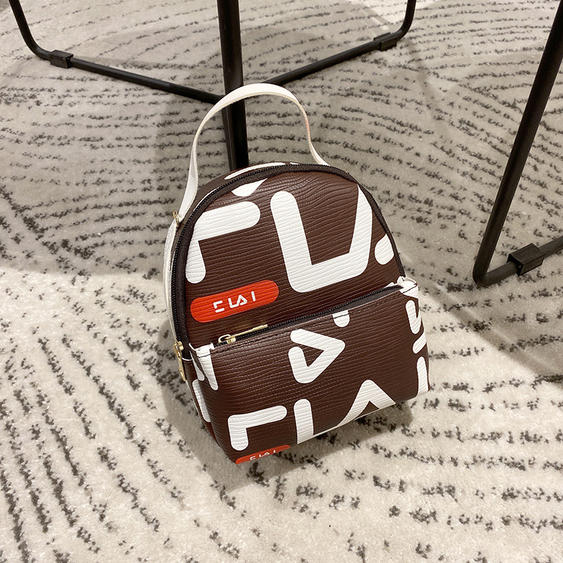 Women's Bag, Mini Backpack, Girl's Fashion, Personalized Print, One Shoulder Slant Across Mobile Phone Bag 2020 NEW