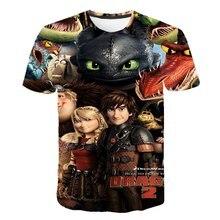 Boys t shirt Summer Kids T-shirt How To Train Your Dragon 3 Cartoon 3D Print T shirt Boys Tees Boys Girls Tops children T Shirt