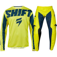 NEW MX 2019 3LACK Mainline Yellow Navy Jersey Pants Motocross Gear Set Motorcycle Dirt Bike Riding Gear Combo