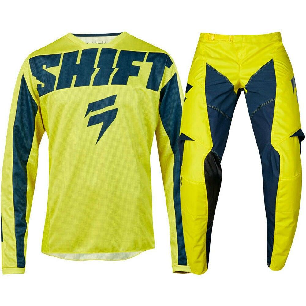 Nouveau MX 2019 3 manque Mainline jaune marine Jersey pantalon Motocross Gear Set moto Dirt Bike équitation Gear Combo