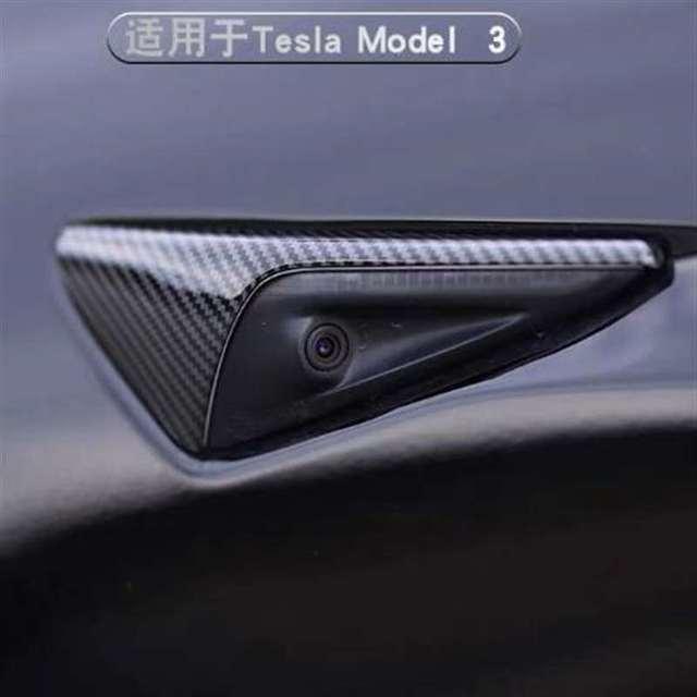 Фото 2 шт блестящие паттерн углеродного волокна боковые зеркала автомобиля цена