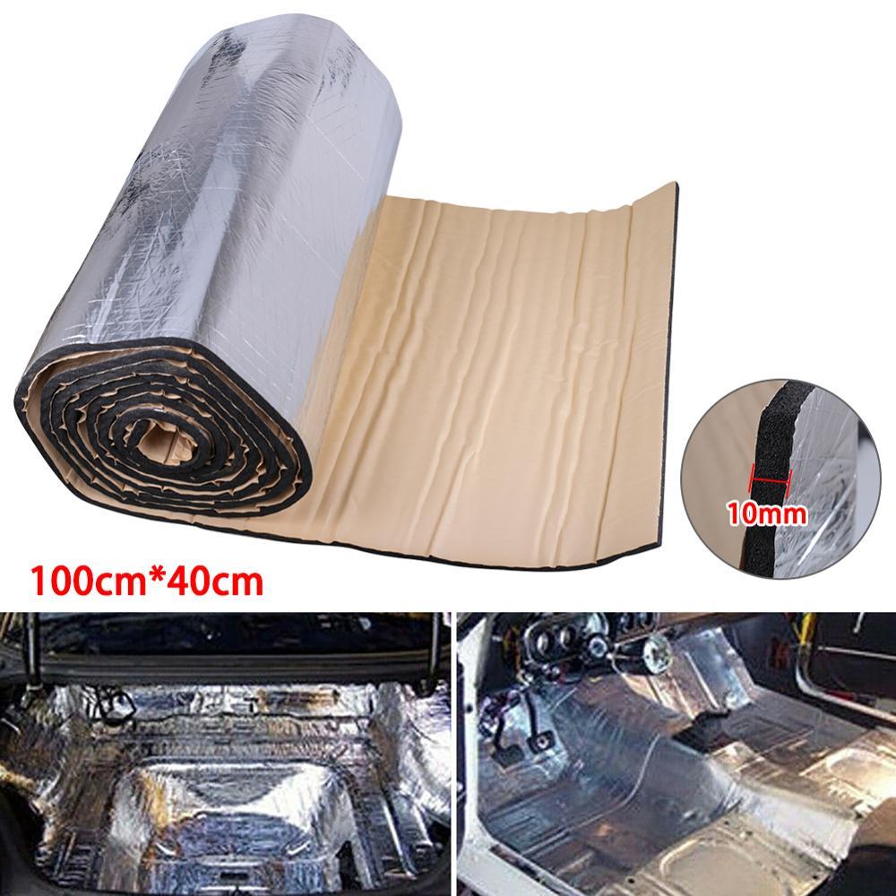 Alfombrilla de aislamiento fonoabsorbente de espuma de algodón para coche y furgoneta de 100x40cm, accesorios para coche L15
