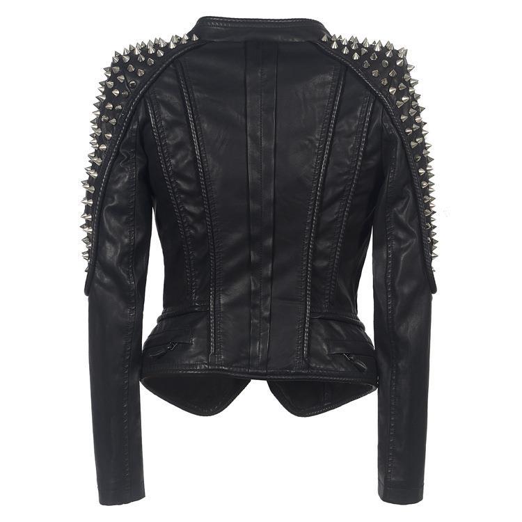Qing mo preto casaco de couro do plutônio das mulheres 2019 inverno grosso quente trench coat feminino streetwear solto casaco de grandes dimensões zqy2322 - 6