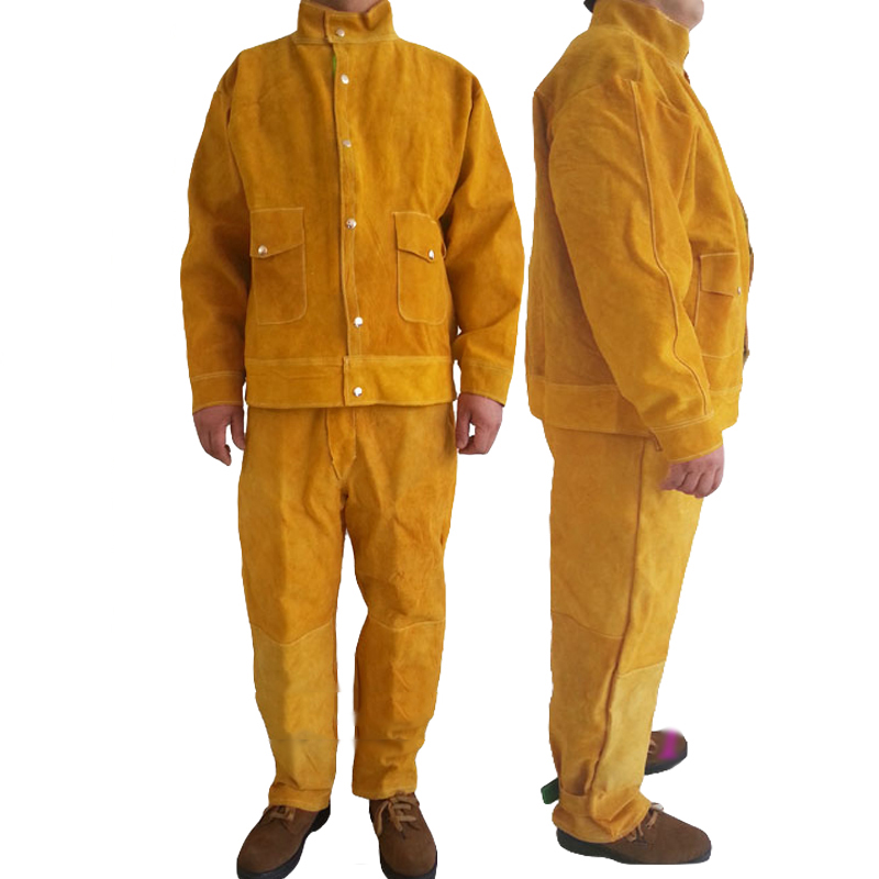 Welding Safety Clothing Flame Retardant Pure Leather Welder Protective Clothing Anti-scalding Welder Overalls Workplace Clothes
