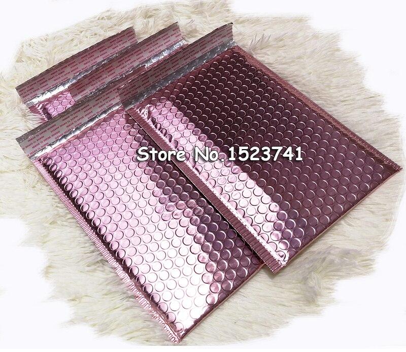 10pcs 35*45+5cm Rose Gold Bubble Envelop, Rose Gold Foil Bubble Mailer For Gift Packaging, Wedding Favor Bag