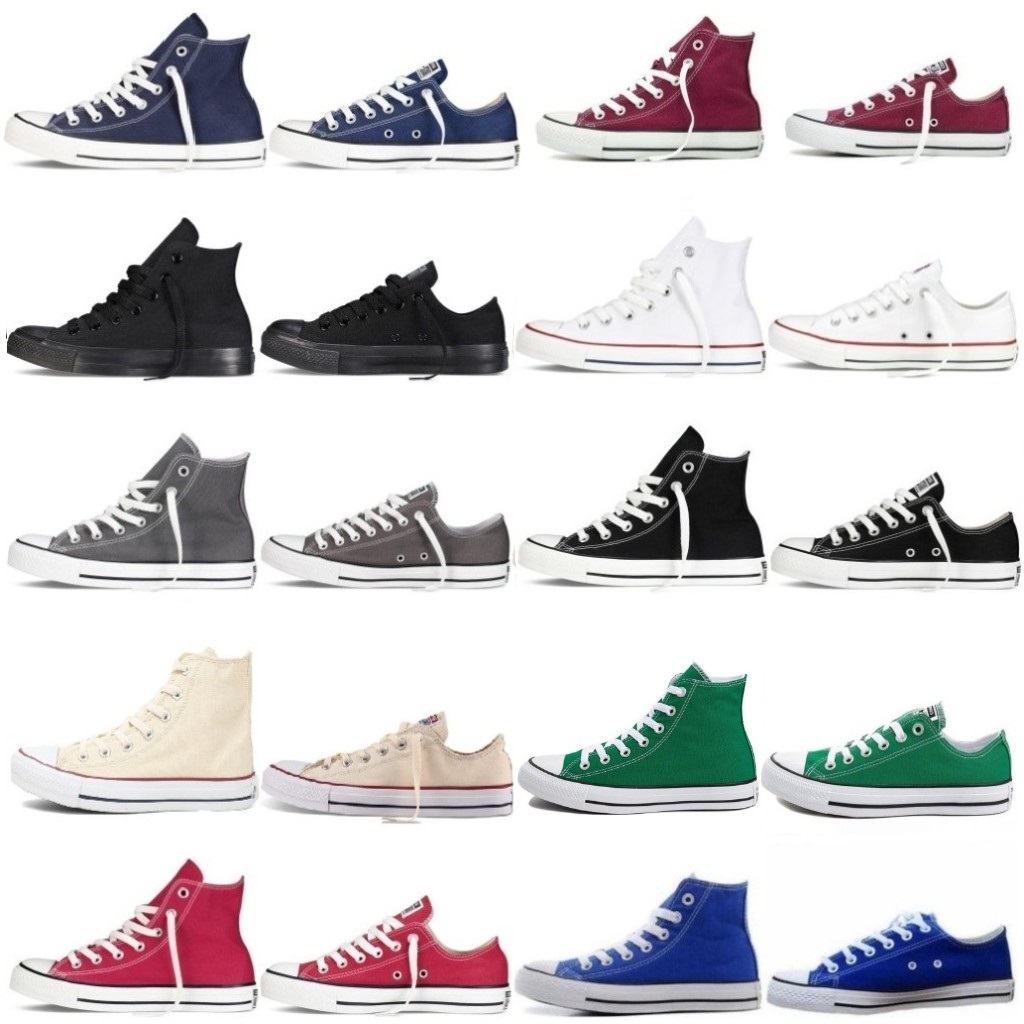 Sneakers Unisex Mens Authentic Classic Allstar Designer ChuckTaylor Ox Low High Top Casual Shoes Womens Athletic Sneakers Dames