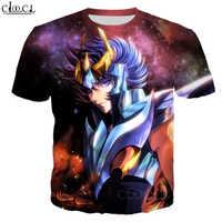 CLOOCL-camisetas con cuello redondo para hombres y mujeres, camisa con estampado 3D de Anime de los caballeros del zodiaco Saint Seiya, camisetas estilo Harajuku de verano