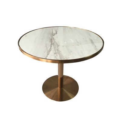 Round marble dining table coffee  light luxury negotiation  and chair combination modern sales office reception leisur