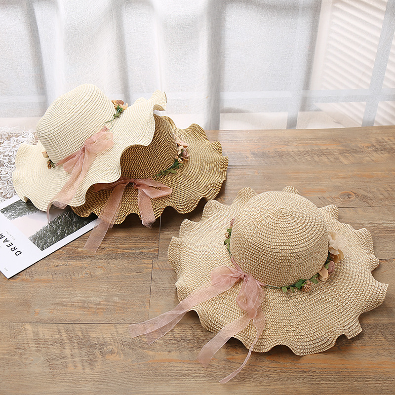 2019Spring and summer with ms lei han edition outdoor sun hat wide brim hats hand lotus vacation straw hat in Women 39 s Sun Hats from Apparel Accessories
