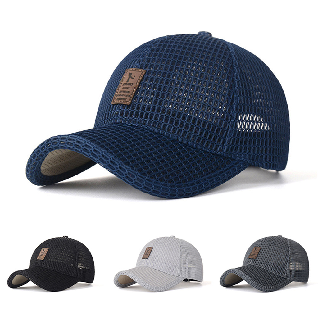 Solid Breathable Adjustable Sport Hats Plain Curved Men's Fashion Casual Outdoor Sun Protection Hat Wild Baseball Cap YL5