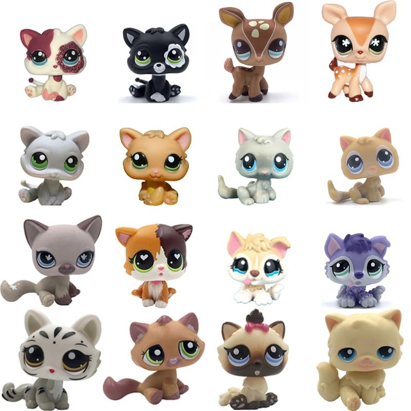 Старый магазин домашних животных милые игрушки Мини короткие волосы котенок Гималайский котенок хаски собака Спаниель колли Грейт дайн редкая коллекция фигурок|Игровые фигурки и трансформеры|   | АлиЭкспресс