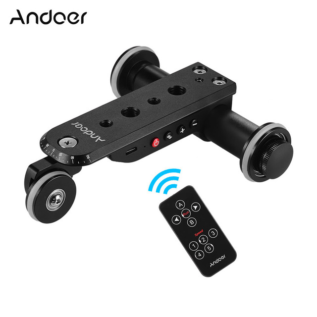 Andoer อลูมิเนียมมอเตอร์วิดีโอกล้อง Dolly TRACK Slider + ผู้ถือโทรศัพท์สำหรับ GoPro HERO 7/6/5 canon กล้อง Nikon SONY DSLR