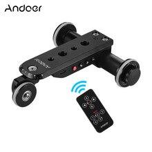 Andoer liga de alumínio motorizada câmera vídeo dolly trilha slider + suporte do telefone para gopro hero 7/6/5 canon nikon sony dslr câmera