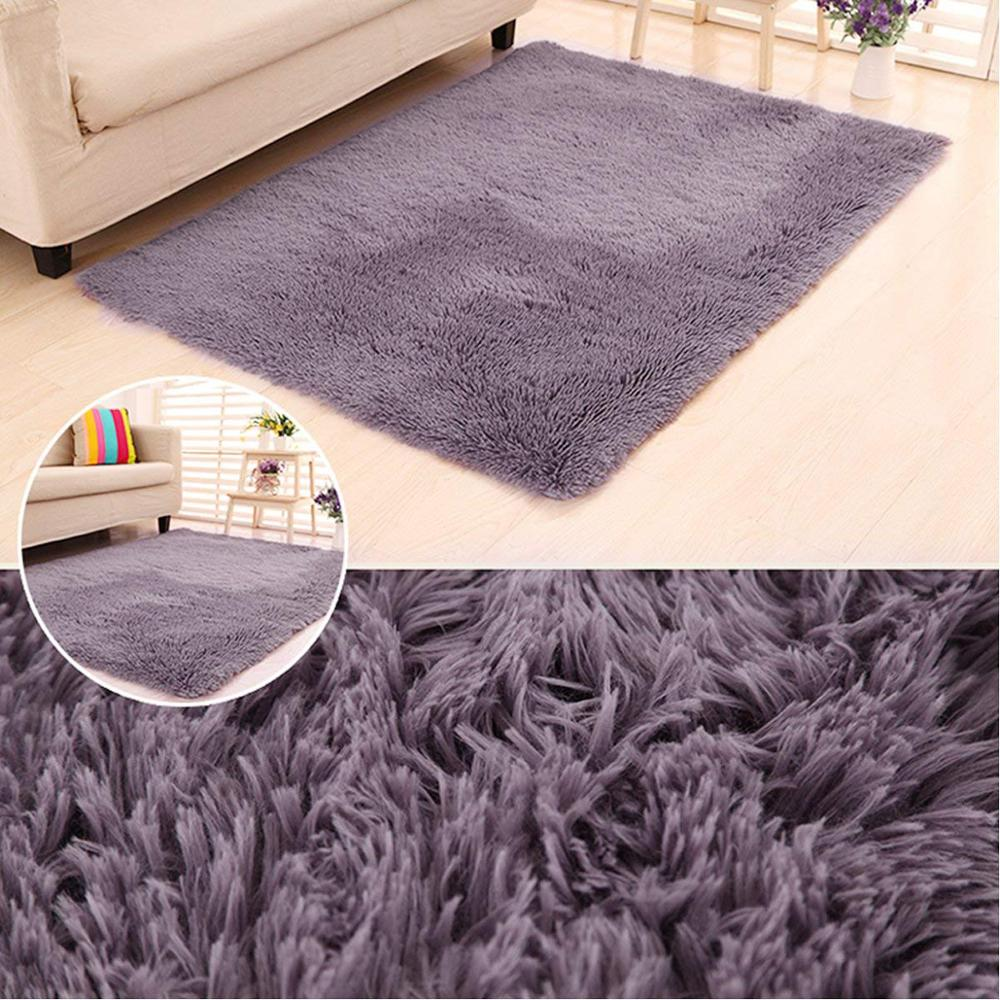 RULDGEE Warm Plush Shaggy Carpet Floor Rugs For Kids Living Room Fluffy Home Faux Fur Area Rug Mats Silky Rugs