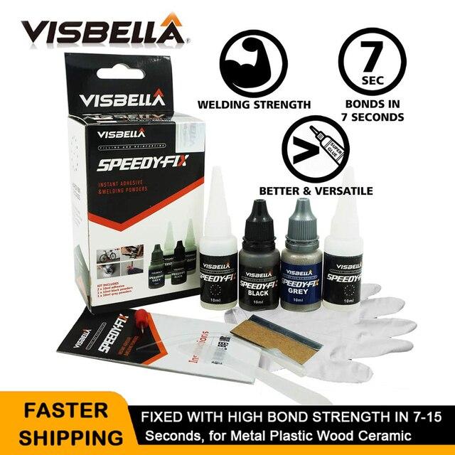 VISBELLA סופר דבק 7 שניות מהיר לתקן מילוי חיזוק כפול דבק מערכת שרף מיידי ריתוך אבקת מים התנגדות