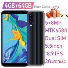 "original Android mobile cellphones P30 PRO 4GBRAM+64GBROM 18:9 IPS 8MP 5.5"" Full screen 2SIM 3G WCDMA smartphones Unlocked Phone(China)"