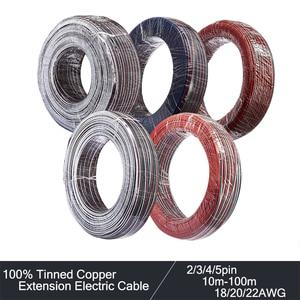 2/3/4/5pin kabel elektryczny 22AWG 20AWG 18AWG rozszerzenie kabel LED Wire10/20/50/100m przewód elektryczny dla 3528 2835 listwy RGB LED