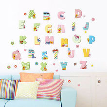 Disney 26 Alphabet A-Z Letters winnie pooh wall stickersfor Kids Bedroom accessories decalsmural wallpaper home decor