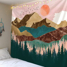 Sunset Mountain Tapestry Wall Hanging Tapestries Wall Art For Home Deco Living Room Bedroom Wall Art