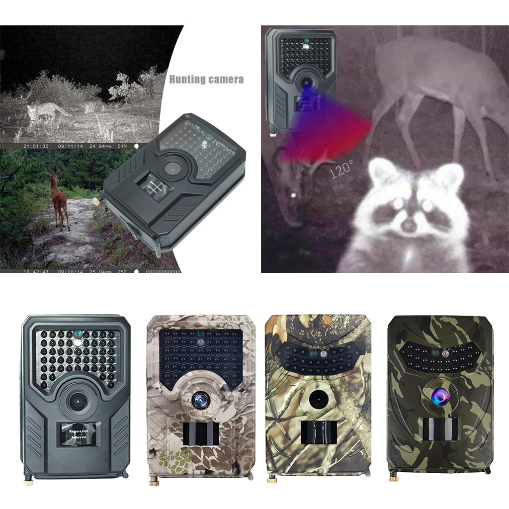 12MP Hunting Trail Camera Wildlife Farm Scouting Observing Cam IP56 Waterproof 2MP IR Hunting Camera