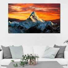 Постеры на холсте с принтом Гималайских гор золотого неба природного