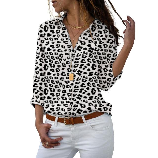 Long Sleeve Women Blouses 2019 Plus Size Turn-down Collar Blouse Shirt Casual Tops Elegant Work Wear Chiffon Shirts 5XL 4