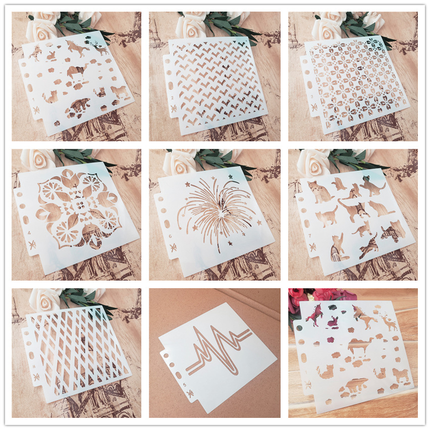 13*14 Whirlpool Circus Scrapbook Stencils Spray Plastic Mold Shield DIY Cake Hollow Embellishment Printing Lace Ruler Valentine