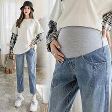 6650 #2021 Весна 9/10 джинсовые прямые джинсы для беременных