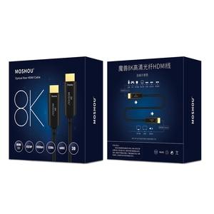 Image 5 - MOSHOU Cable de HDMI 2,1 de fibra óptica, Ultra HD (UHD), 8K, 120GHz, 48Gbs, con Audio y Ethernet, HDMI, HDR 4:4:4, sin pérdidas